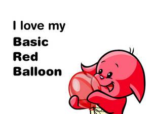 SpykeyBoi loves his Basic Red Balloon.