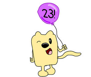Wubbzy with a special balloon for me!