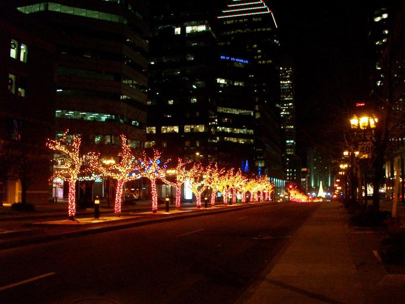 City Lights at Christmas by pyrodarkangel