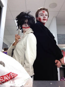 Jeff the Killer and Masky(unmasked)