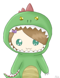 Veronica as Dinosaur ~ by AylinK