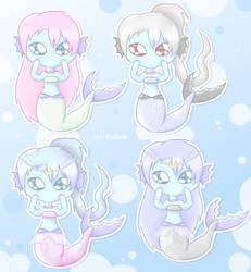 Cute Mermaid Chibis by AylinK