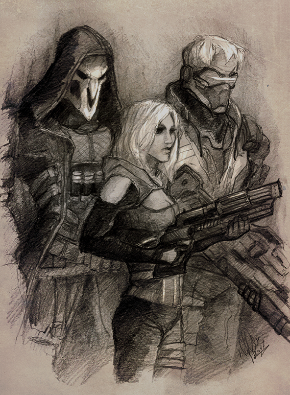 Overwatch Trio by yuhime