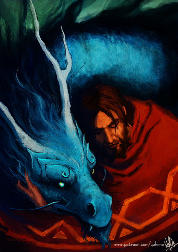 Jesse and blue dragon by yuhime
