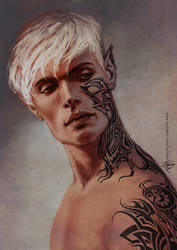 Rowan Whitethorn Throne of Glass by yuhime