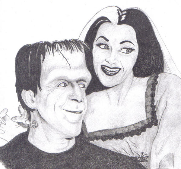 lilly and herman munster by heathersvisualdesign on deviantart. Black Bedroom Furniture Sets. Home Design Ideas
