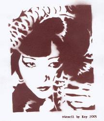 Anna May Wong Stencil