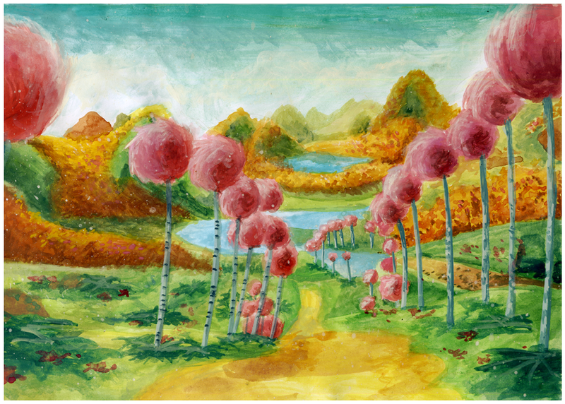 The Lorax Truffula Trees Painting Truffula trees painting by