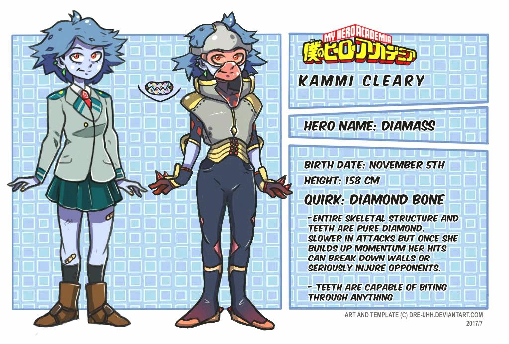 BNHA OC: KAMMI (DIAMASS) by X-RedLemon-X