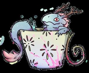 Dragon Stickers - Azure Green Tea by X-RedLemon-X