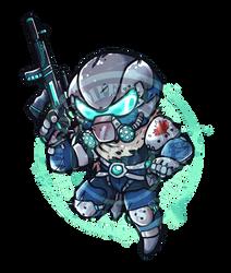 Gamer Logo - Chibi Commission by X-RedLemon-X