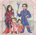 Dnd Family Sketch Commission