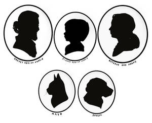 My family - Victorian Vintage Silhouette