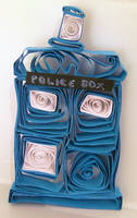 Paper Quilled Quirky Tardis by cunningcatcrafts
