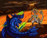 Brachydios VS Kommo-o by dragokaiju2000