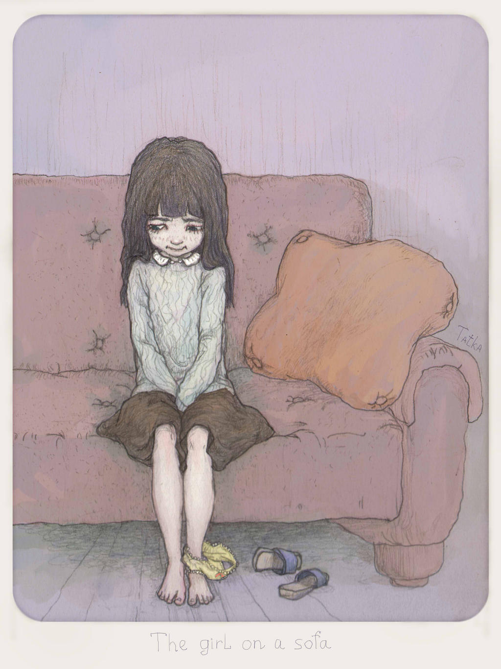 The girl on a sofa by t-a-t-k-a