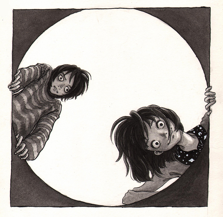 boy and girl in the hatchway by t-a-t-k-a