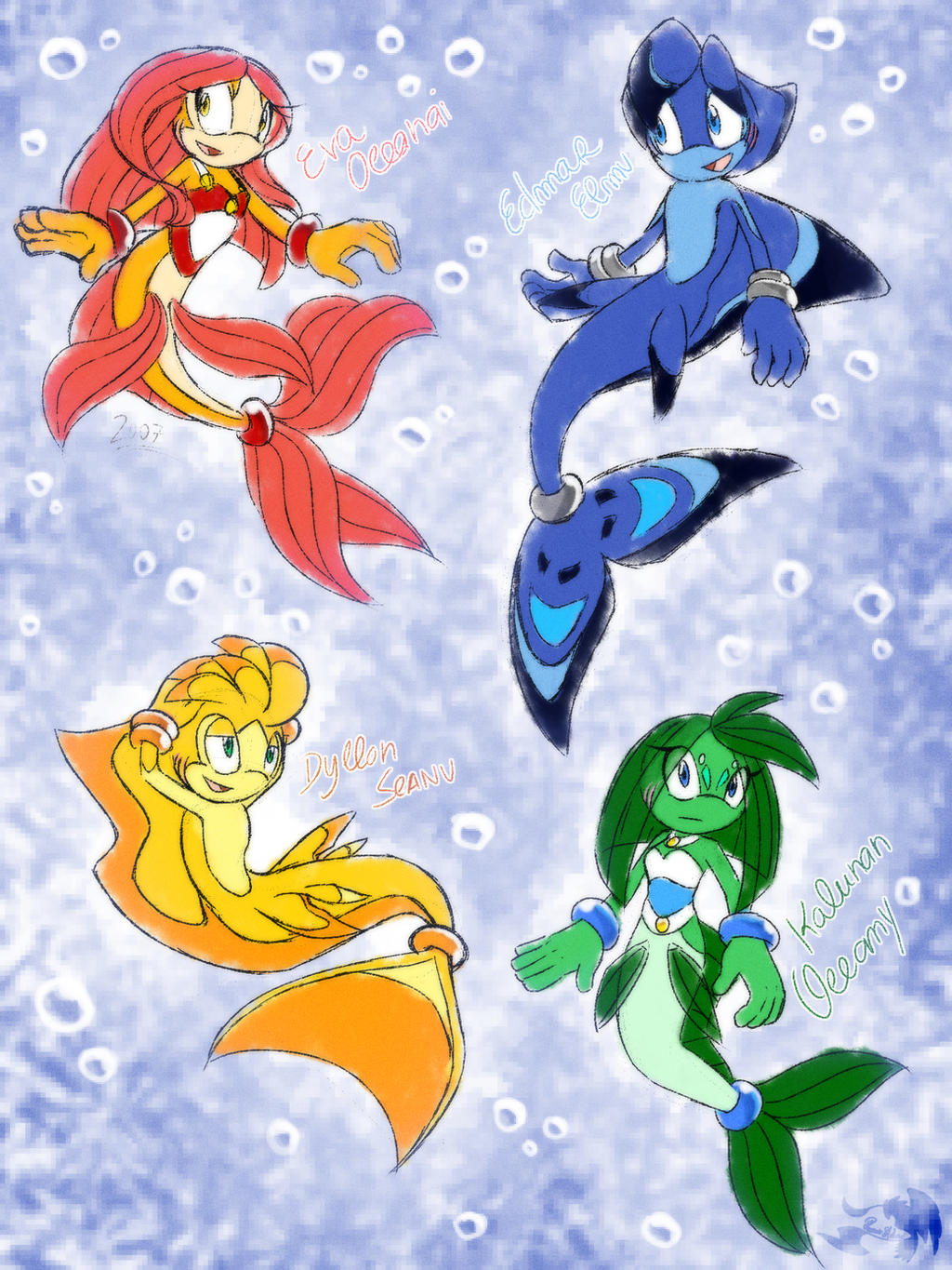 .: Sketch OC's: Sea Creatures :. by PhoenixSAlover