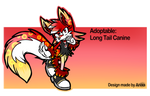 .: Adoptable - Long Tail Canine 1# (OPEN) :. by PhoenixSAlover