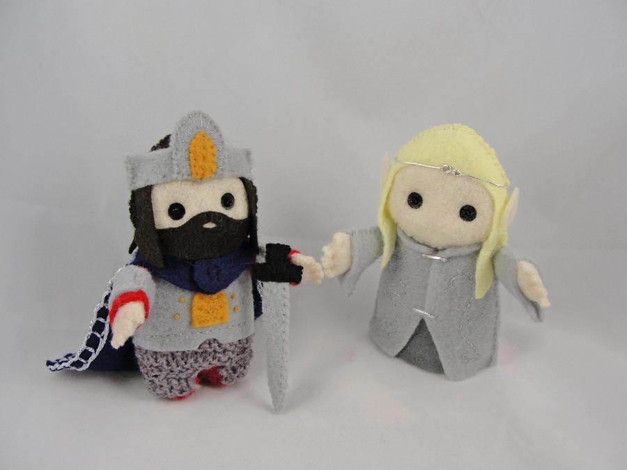 Aragorn + Legolas by deridolls