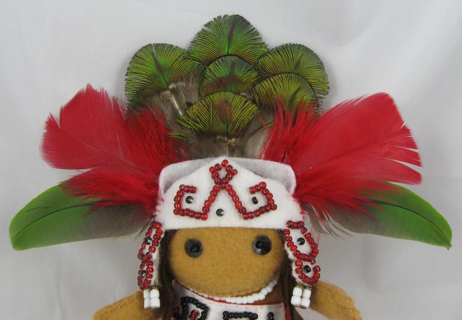 Aztec Princess - detail by deridolls