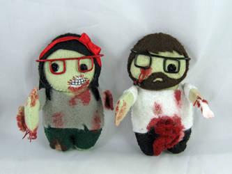 Zombie Couple by deridolls