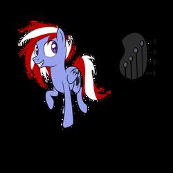 Commission: Pegasus OC with Bass Guitar head CM