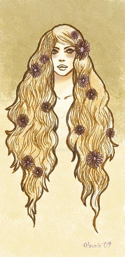 Flower girl - Colour study 1 by Olaunis