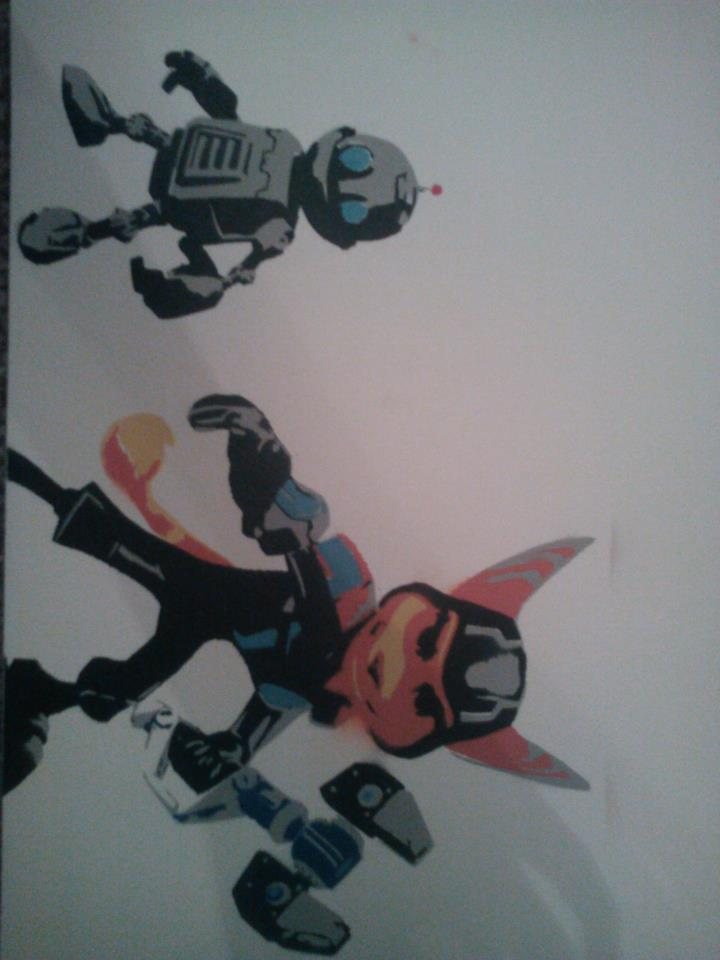 Ratchet and Clank Stencil by DMSpray