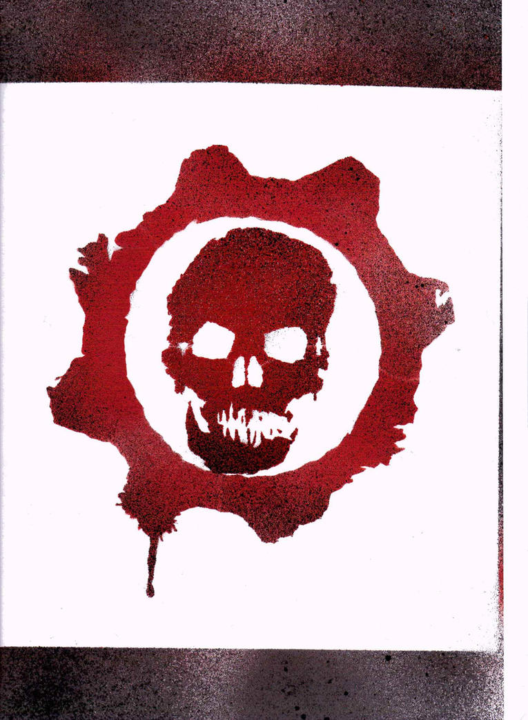 Gears of war symbol stencil by dmspray on deviantart for Gears of war logo tattoo