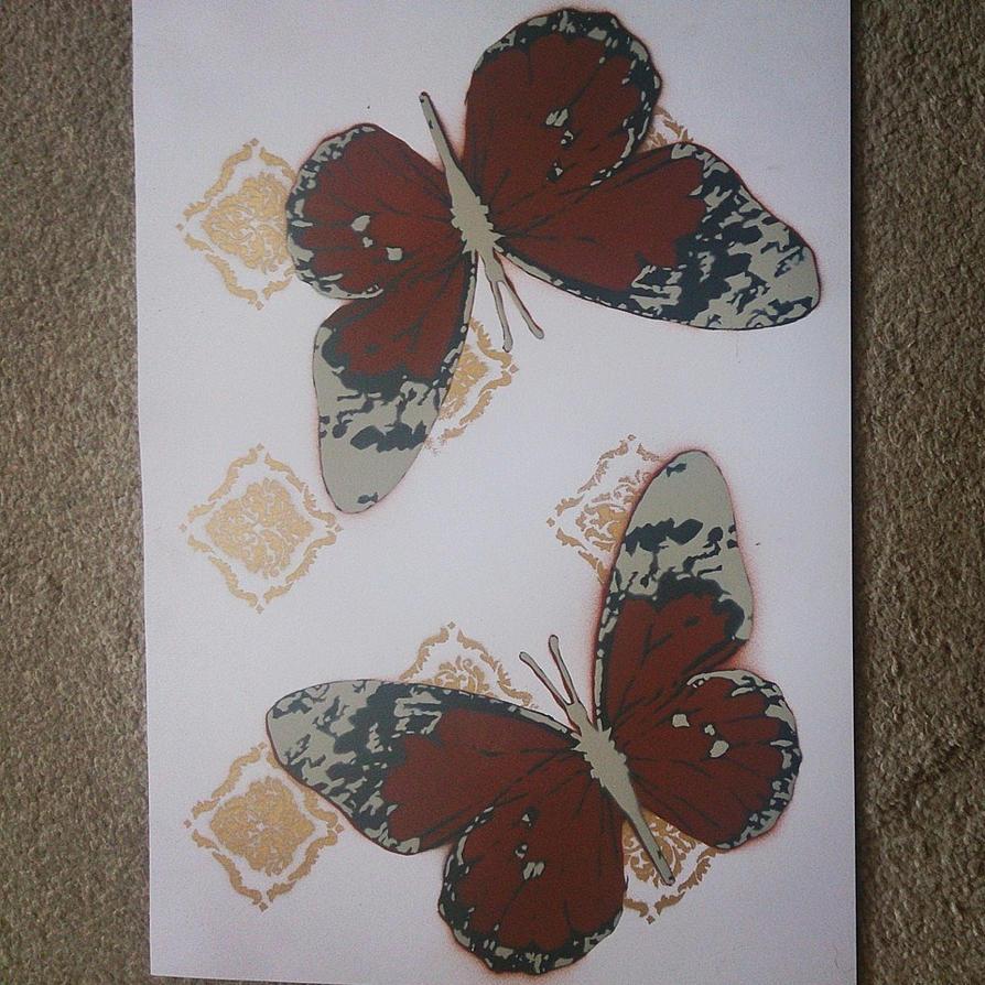 Butterfly Stencil by DMSpray
