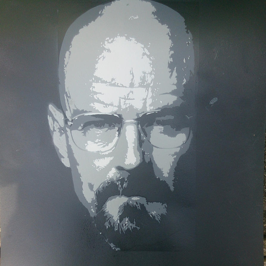 Walter White Stencil by DMSpray