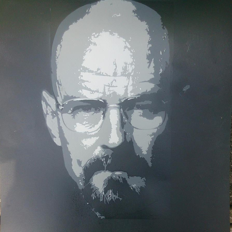 Walter White Stencil by DMSpray