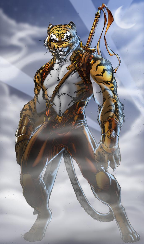 BronzeTigerFinal by SapphWolf