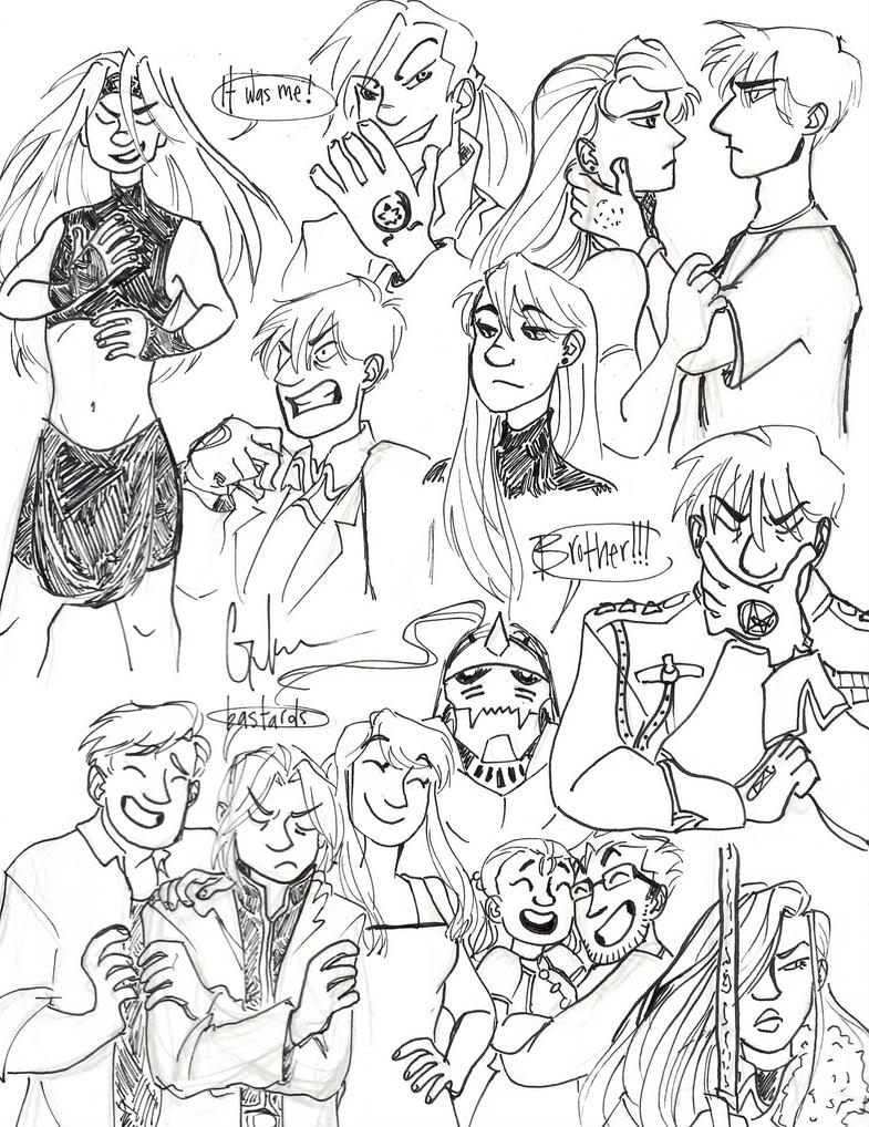 FMA sketch dump by Ditchthesidewalk