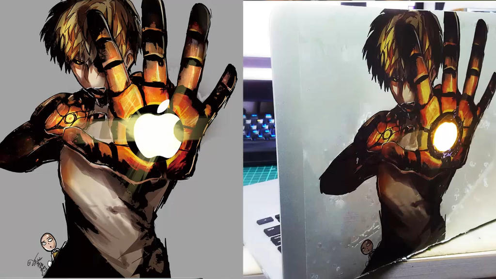 Diy opm genos macbook laptop stickers by goditsuka
