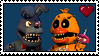 Nightmare Bonnie x Nightmare Chica Stamp by Autistic-Zydrate