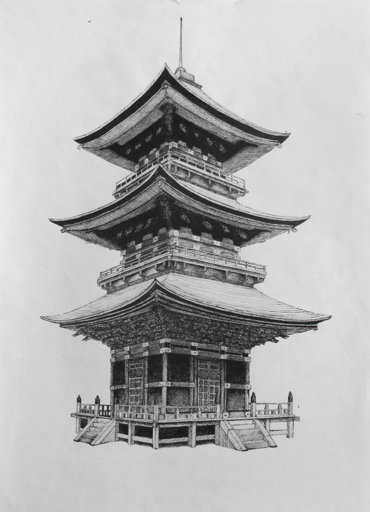 japanese temple by suraj28 on deviantart. Black Bedroom Furniture Sets. Home Design Ideas