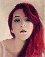Portrait speedpaint by crabskiller