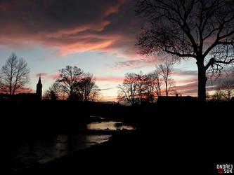 Sunset over Mikulovice by DArkLOrd-Nikon