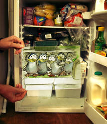Penguins in the Fridge by AnthonyRB1
