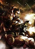 sci-fi character by wasurah