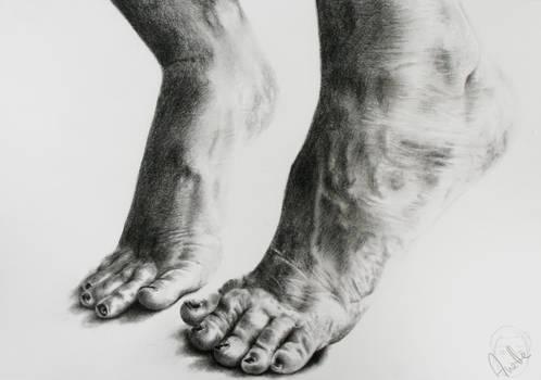Tip-toed away ...