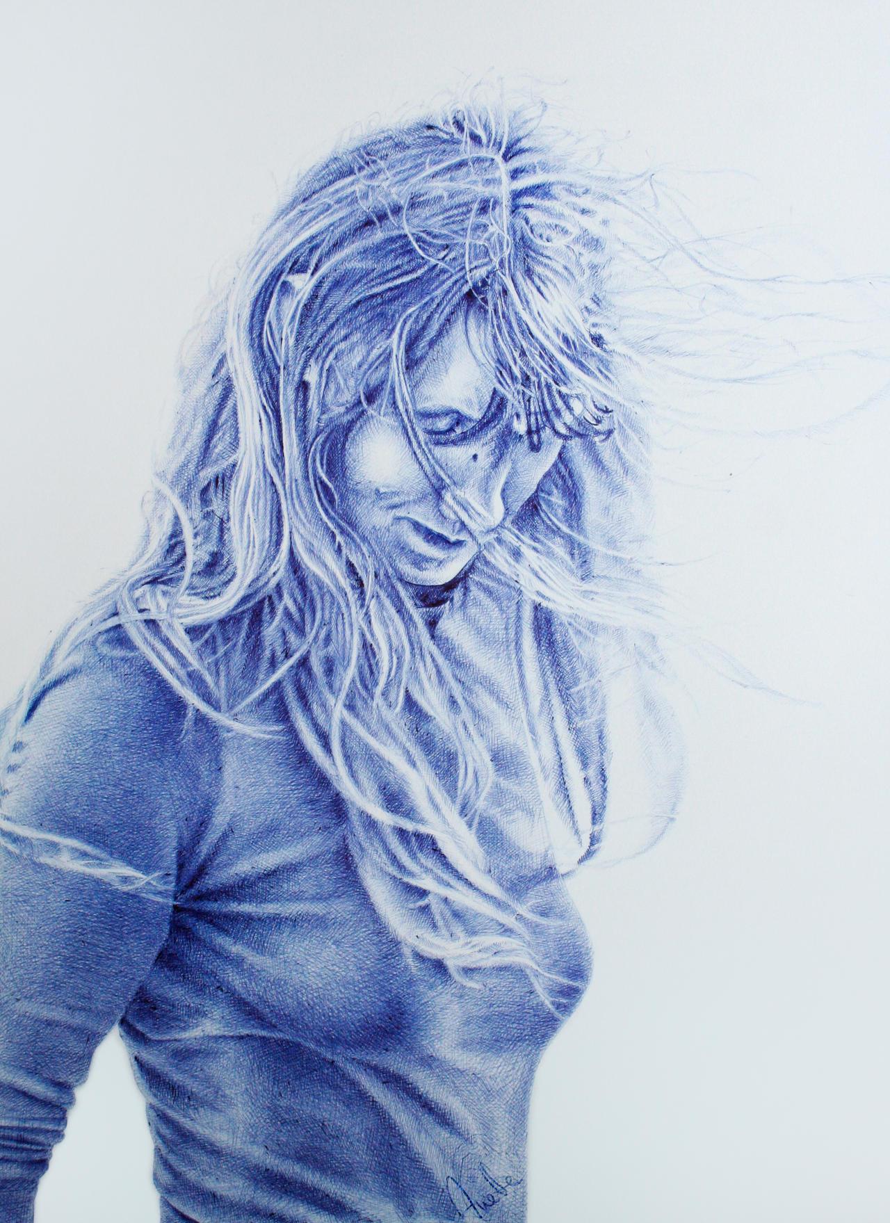 Ice Queen - in blue pen