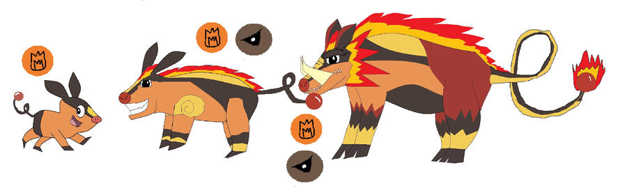 USR: Fake Tepig Evolutions by OverpoweredClefairy on ...