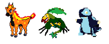Starters Evos Sprites by OverpoweredClefairy