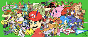 Super Smash Bros Base Colored