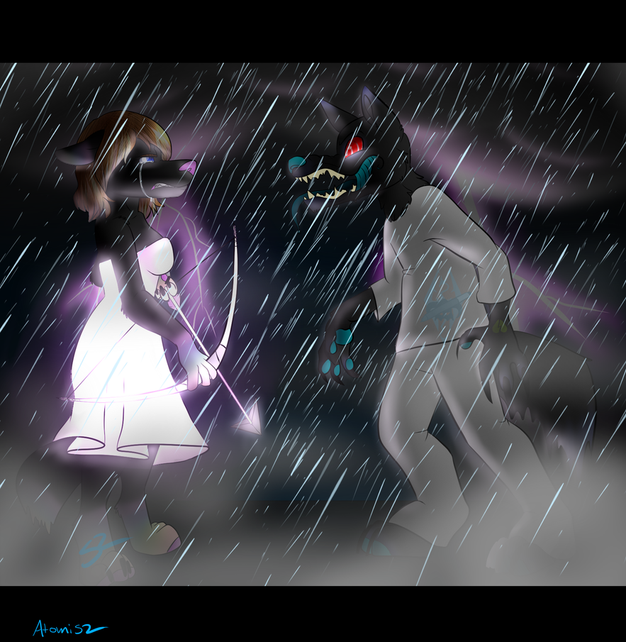 The Fight Between Light And Dark .:Comm:. by Atomic52