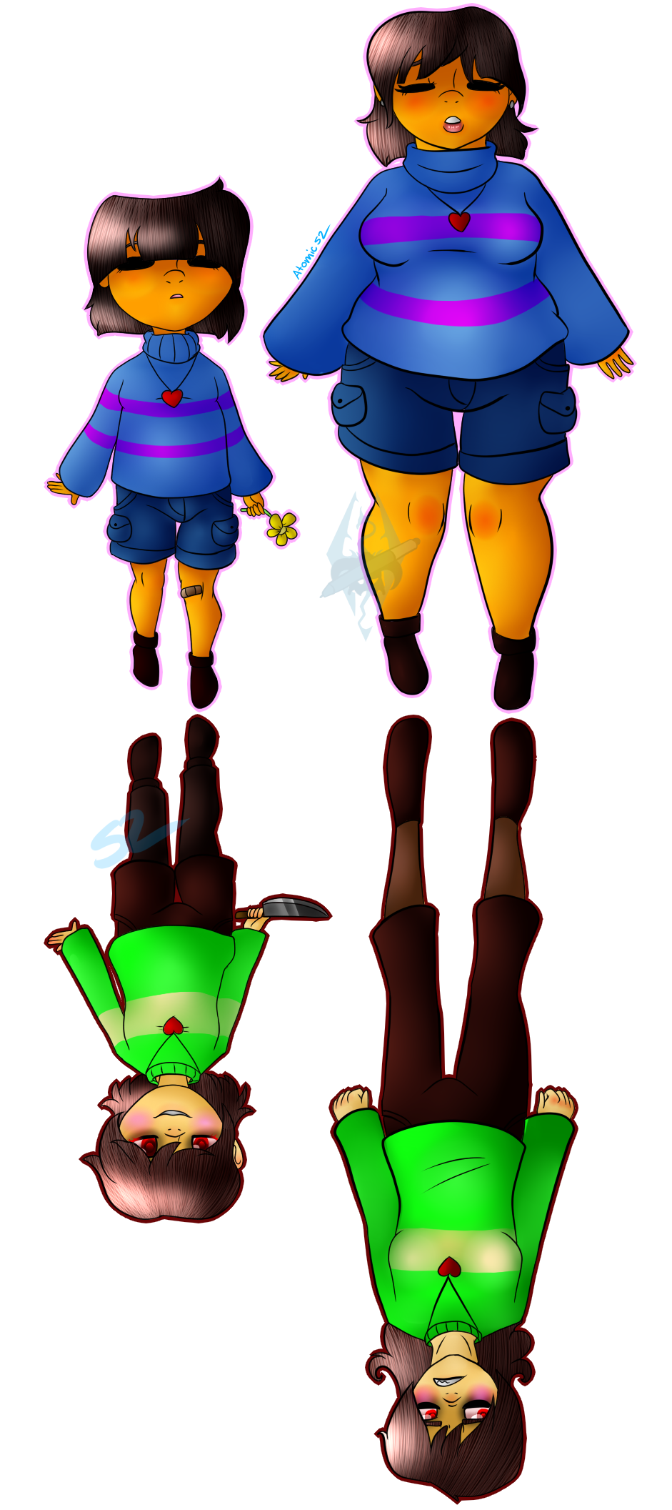 Frisk and Chara by Atomic52
