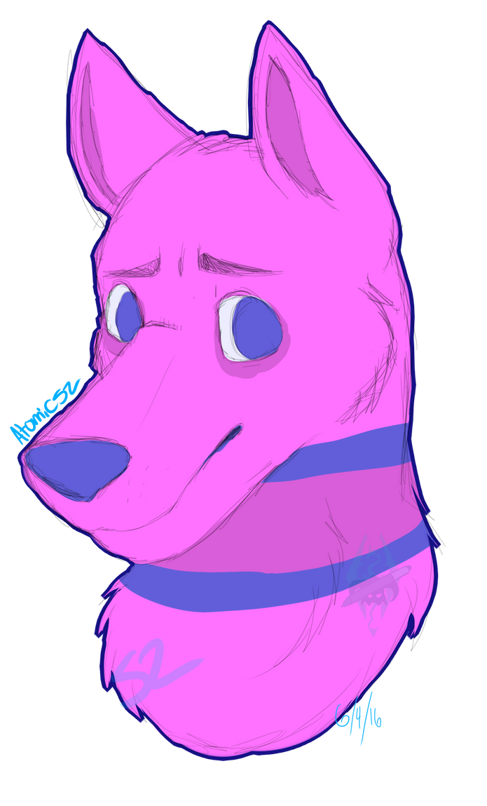 Pink Pup .:Comm:. by Atomic52